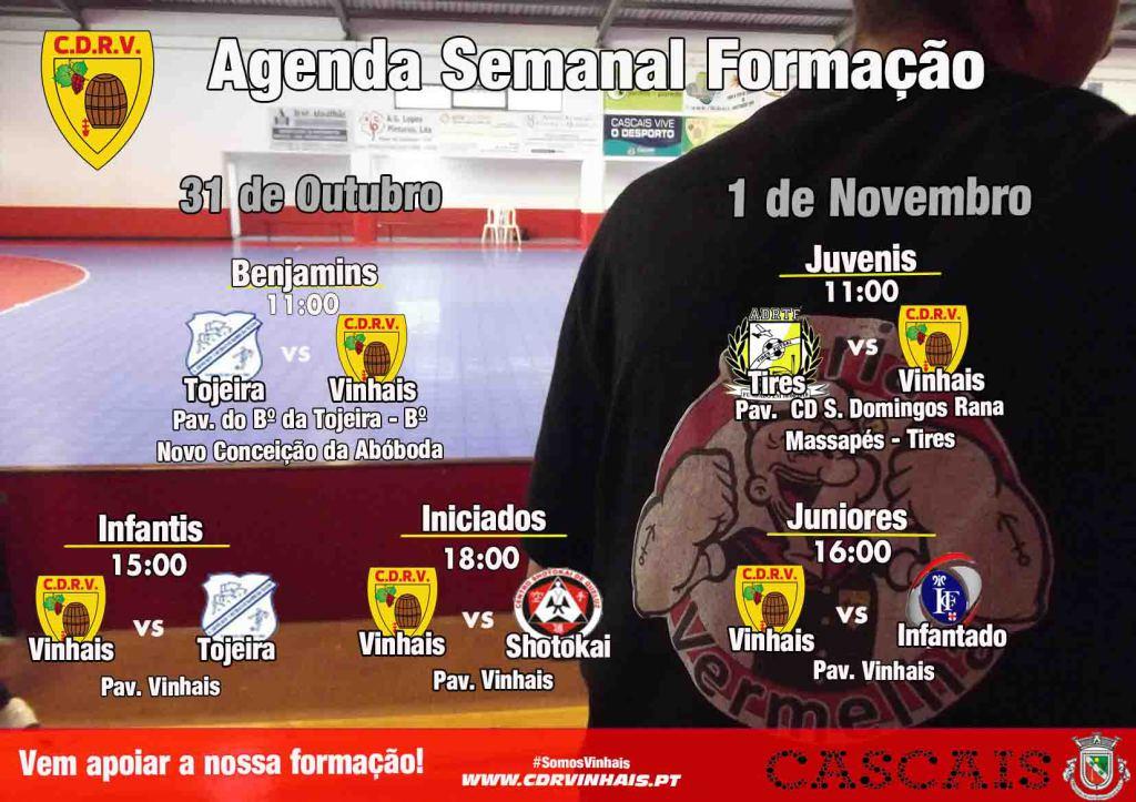 agenda semanal 31 out e 1 Nov